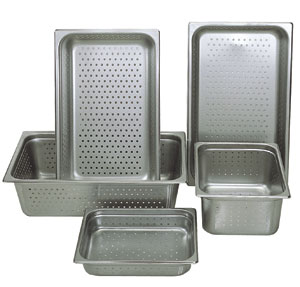 "Perforated Steam Pan Size 2-1//2/"" Half Size 10-3//8/"" x 12-3//4/"""